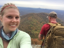 Sitting on the summit of Mount Yonah .